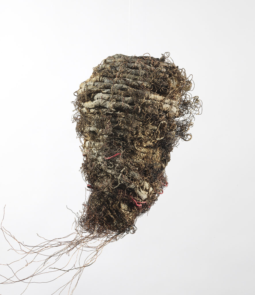 TiNan #82b, cotton cord, copper wire, coated wire, rice paste, pigment