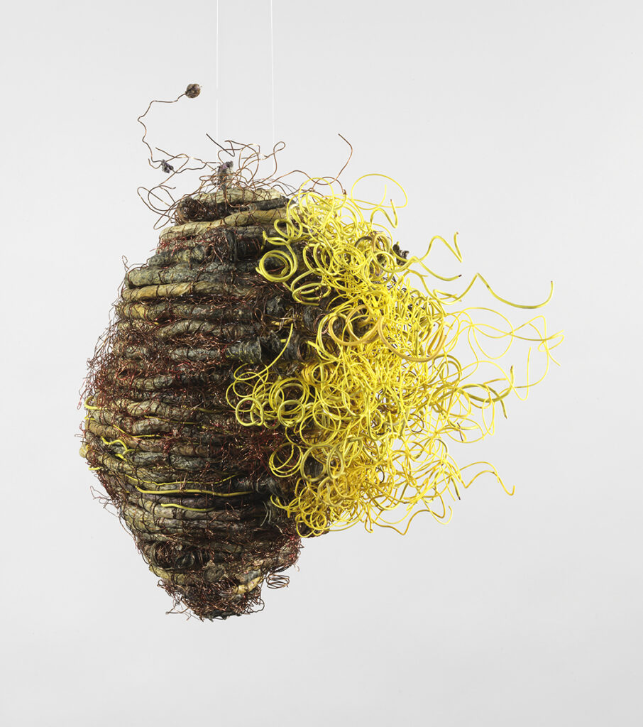 TiNan #83, cotton cord, copper wire, coated wire, rice paste, pigment